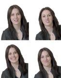 Quatre émotions de jeune dame Image libre de droits