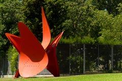 Quatre Ales - Alexander Calder - Barcelona fotografia de stock