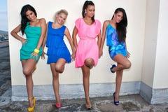 Quatre amies de femmes Images stock
