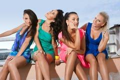 Quatre amies de femmes Images libres de droits