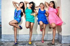 Quatre amies de femmes Photo stock