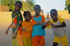 Quatre amis africains Photo stock