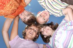 Quatre amis d'amusement Photographie stock