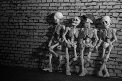 Quatre amis squelettiques Image libre de droits