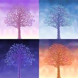 quatre arbres de ciel Photos stock