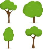Quatre arbres de vecteur Photo libre de droits