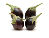 Quatre aubergines Image libre de droits