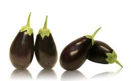 Quatre aubergines d'aubergine de chéri Photographie stock libre de droits