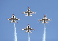 Quatre avions de chasse Photo libre de droits