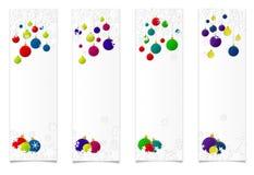 Quatre baners vertikal de Noël photo libre de droits
