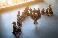 Quatre belles ballerines Photographie stock