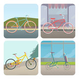 Quatre bicyclettes Image stock