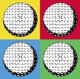 Quatre billes de golf illustration libre de droits