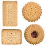 Quatre biscuits de temps de thé images stock