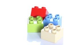 Quatre blocs de jouet de plastique image stock