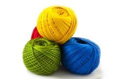 Quatre boules de couleur différente Photo stock