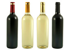 Quatre bouteilles de vin Illustration Libre de Droits