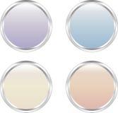 Quatre boutons doux-colorés de Web illustration libre de droits