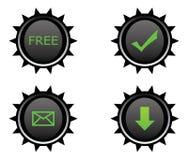Quatre boutons en plastique pour le Web Photos stock