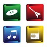 Quatre boutons musicaux illustration de vecteur