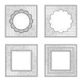 Quatre cadres carrés pour le livre ou autre de couleur produit de conception Contour noir, espace pour le texte ou photo illustration de vecteur