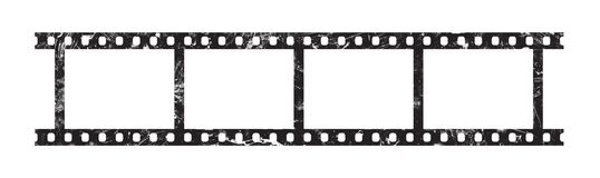 Quatre cadres de bande de film de 35 millimètres Images libres de droits