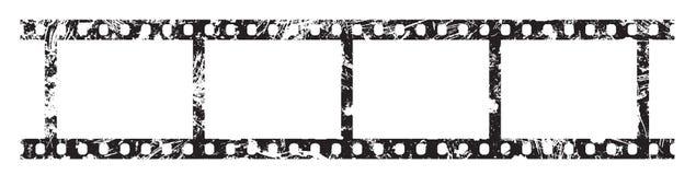Quatre cadres de bande de film de 35 millimètres Photographie stock libre de droits