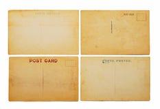 Quatre cartes postales antiques images libres de droits