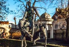 Quatre cavaliers de statue d'apocalypse à Bruges, Belgique Image libre de droits