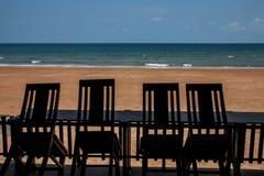 Quatre chaises de seaview Images libres de droits