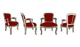 Quatre chaises de style illustration de vecteur