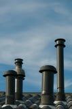 Quatre cheminées Image stock