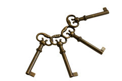 Quatre clés Photo libre de droits