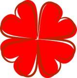 Quatre coeurs pour le jour du ` s de valentine Images libres de droits