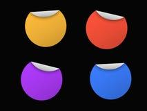 Quatre collants sur le noir Illustration de Vecteur