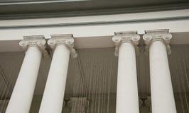 Quatre colonnes blanches Images stock