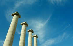 Quatre colonnes de Barcelone Images libres de droits