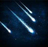 Quatre comètes Images libres de droits
