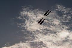Quatre combattants dans le ciel Photographie stock