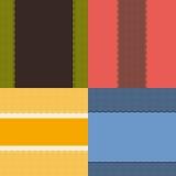 Quatre configurations nettes de lacet Image stock