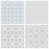 Quatre configurations sans joint Photo stock