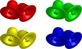 Quatre couleurs des cloches Image libre de droits