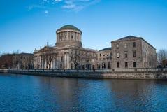 Quatre cours à Dublin Image stock