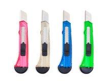 Quatre couteaux de bureau Image stock