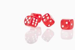 Quatre cubes rouges Images libres de droits
