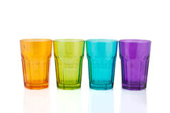 Quatre cuvettes colorées Photo libre de droits