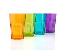 Quatre cuvettes colorées Photographie stock libre de droits