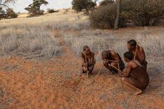 Quatre débroussailleurs Photo libre de droits
