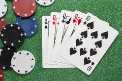 Quatre d'un genre Concepts de casino Images stock