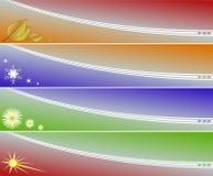 Quatre drapeaux de saisons Images stock